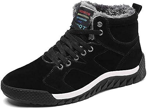 FHCGMX Hiver Chaud Fourrure De Neige Homme Bottes pour Hommes Décontracté Chaussures De Sport Adulte paniers Qualité Marche en Caoutchouc Chaussures