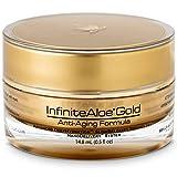 InfiniteAloe Gold Anti-Aging Formula - Eye, Face and Neck Cream - Cutting Edge Nanotechnology with Aloe, Peptides, Vitamins, Collagen, Alpha Lipoic Acid and DMAE - (1) 0.5oz