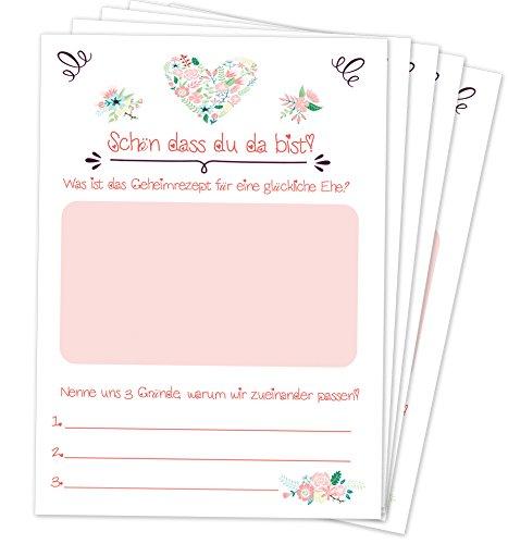 Hochzeitsspiel: 52 Postkarten mit spannenden Fragen für Gäste und das Brautpaar // Das 52 Wochen Spiel für Hochzeiten