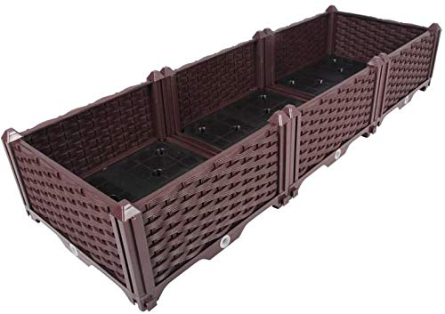 KAWARTHA Bay Raised Garden Bed, Garden Grow Bag Indoor Outdoor Garden Plant Bed for Plants,Vegetables,Flowers. (Standard-3 Planter Boxes)