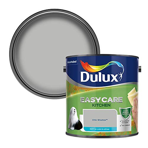 Dulux 500000 Easycare Kitchen Matt Emulsion Paint For Walls And Ceilings - Chic Shadow 2. 5 Litres