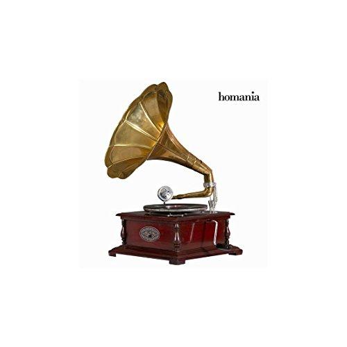 Gramófono cuadrado latón by Homania