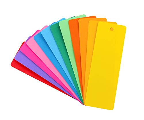 Hygloss Products Bright Bookmarks - Fun to Personalize - 12 Assorted Vibrant Colors - Cardstock Bookmarks - Value Pack - 100 Pack, 2 x 6 Inches (FBA_42610)