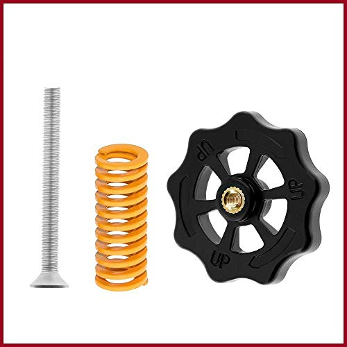 THNQ 3D Printer Parts M4 * 40 Screw & nutLeveling Spring Kit For Verwarmde Bed (Color : Yellow)