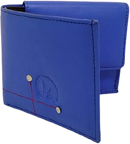 SHEPHERD Men s Quality Leather Wallet Blue