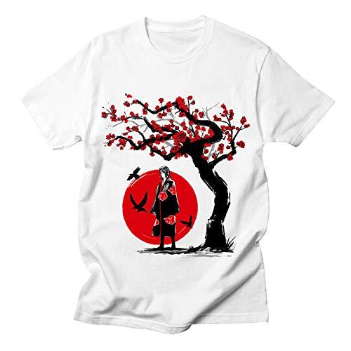 3D Naruto Camiseta De Serie De Anime Uchiha Itachi Gráfico Impresion Estilo Deportivo Manga Corta Blusas Camisas T-Shirt Unisex,Large