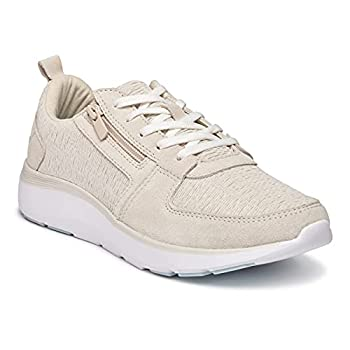 Vionic Women s Delmar Remi Lace-Up Fashion Sneakers- Supportive Walking Shoes That Include Three-Zone Comfort with Orthotic Insole Arch Support Sneakers for Women Cream 6.5 Medium US