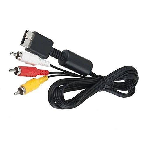 3 RCA AV-Kabel für Sony PlayStation 1 / 2 / 3 / PS1 / PS2 / PS3 (1,2 m).