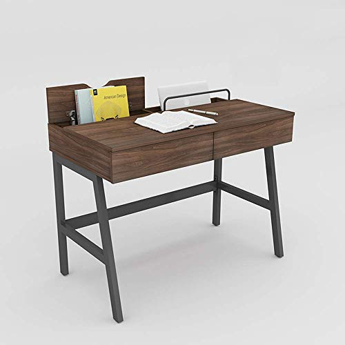 Carl Artbay Home & Selected Furniture/Nordic huishouden desktop computer bureau-learning bureau met 2 laden werkbank-kantoortabellen (kleur: B, grootte: 100cm)