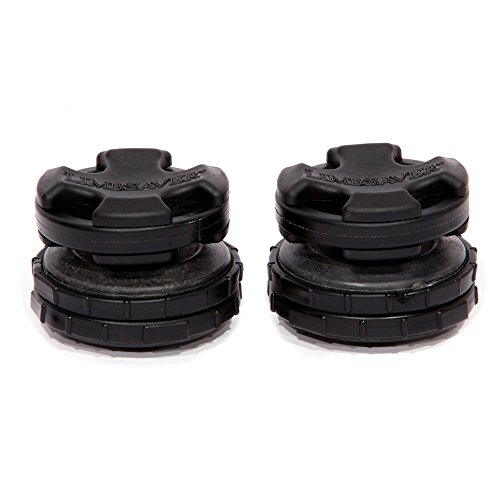 LimbSaver Broadband Dampener for Split Limb Compound Bows, Black, 2-Pack