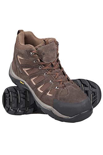 Mountain Warehouse Field Mens Hiking Boots  Vibram Walking Shoes Brown 12 M US Men