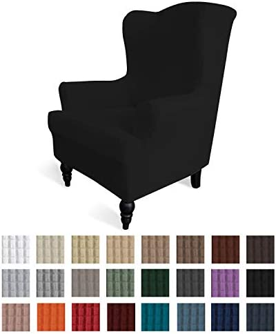 Best Easy-Going Stretch Wingback Chair Sofa Slipcover 1-Piece Sofa Cover Furniture Protector Couch Soft w