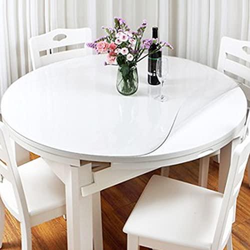HHUU Mantel redondo de PVC transparente de 2 mm de grosor, protector de mesa de PVC, protector de mesa impermeable, de cristal suave, para mesas de comedor, diámetro 120 cm