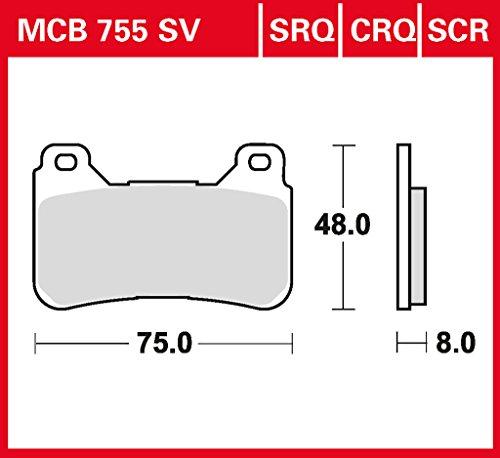 Bremsbelag Lucas MCB755CRQ Hyper Carbon Rennsportbelag NSR Tech