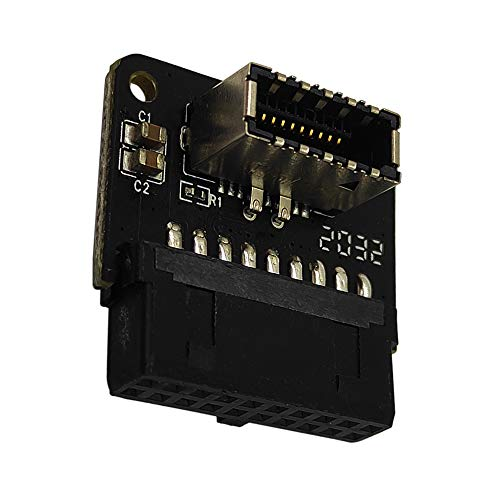 COMeap USB 3.0 (3.1 Gen 2) Internal IDC 19 Pin Motherboard Header to Type-E A-Key USB 3.1 20 Pin Type C Front Panel Header Mount Adapter (Reverse Type)