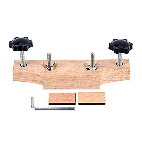 Healifty Gitarrenbrückenklemme Massivholz Gitarrenbauer Werkzeuge mit L Schraubenschlüssel Kork Dichtung Gitarren Sicher DIY Reparatur Zubehör R181