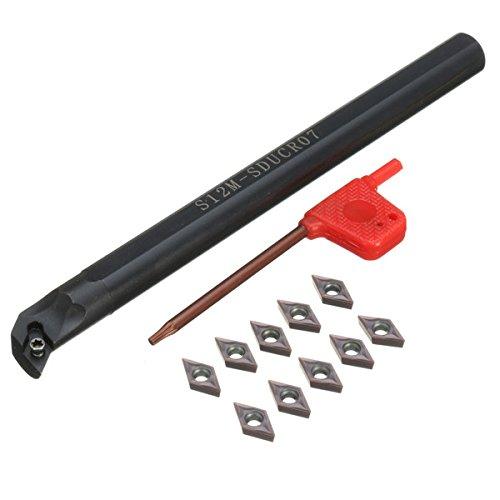 EsportsMJJ S12M-SDUCR07 12x150mm Draaibank gereedschapshouder met 10 stks DCMT0702 hardmetalen inzetstukken