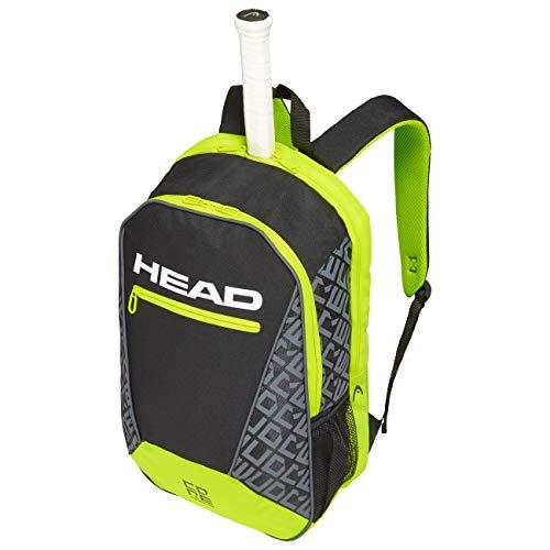 HEAD Core Backpack Sac de Raquette de T Adulte Unisexe, Noir/Neon Jaune, Taille Unique