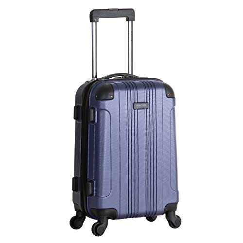 Kenneth Cole Reaction Out Of Bounds 20-Inch Carry-On Lightweight Durable Hardshell 4-Wheel Spinner Cabin Size Luggage, Smokey Purple