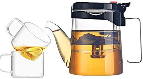 Tetera Tetera Taza Tetera Taza Interior de Vidrio Filtro de Taza de té Tetera de Vidrio Juego de té para Calentar y Lavar la Ropa para la Taza de té Local (Tamaño: 500 ml) Exquisito