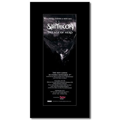 SATYRICON - The Age Of Nero Matted Mini Poster - 28.5x10cm