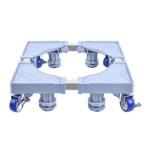 Soportes Para Lavadoras-Secadoras, Multifuncional Soporte Ajustable Con 4 Ruedas Bloqueables Y 4 Pies De Goma Base Refrigerador De Para Lavadora, Secadora Y Refrigerador