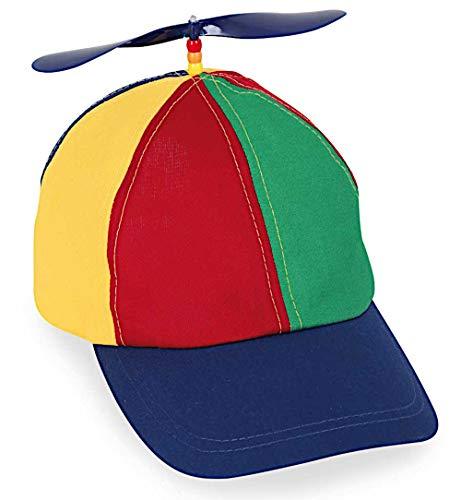 KarnevalsTeufel Basecap mit Propeller Bunte Mütze Cappy Schirmmütze