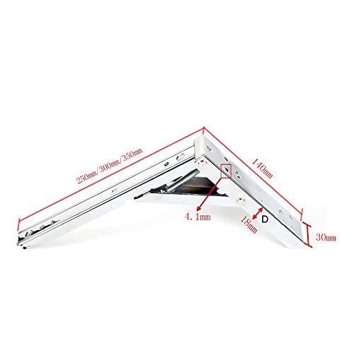DIY Heavy Duty Foldable Bracket,Stainless Steel Bracket for Table,Desk Work Bench Wall Divider Shelf,Silver,140Mm X 350Mm