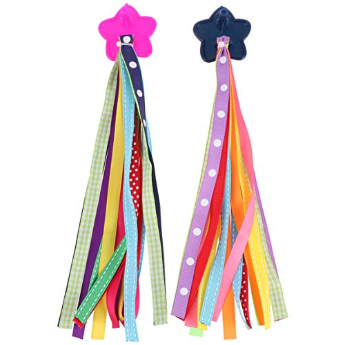 CLISPEED 1 Pair Kids Bicycle Tassel Ribbon Children Scooter Handlebar Streamers Bicycle Grips Ribbon Bike Accessories for Kids