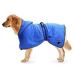 Mikrofaser Bademantel für Hunde