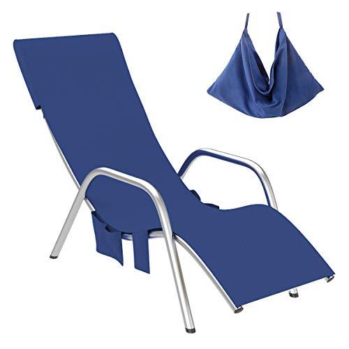 YOPOTIKA Cubierta para silla de playa de microfibra, secado rápido, con bolsillos, para playa, vacaciones, tomar el sol