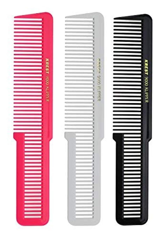 衣装復活評決Krest 8 Inches Barber Styling Hair comb. Clipper Cutting Comb. Made of Nitrile Rubber. [並行輸入品]