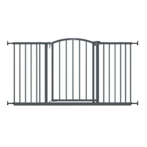 "Summer Extra Wide Decor Safety Baby Gate, Gray – 27"" Tall, Fits Openings of 28"" to 51.5"" Wide, 20"" Wide Door Opening, Baby and Pet Gate for Extra Wide Doorways"