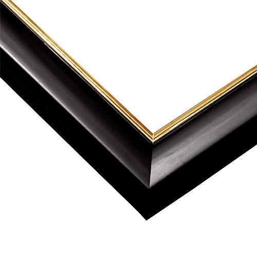 エポック社木製パズルフレームウッディーパネルエクセレントゴールドラインシャインブラック(18.2x51.5cm)(パネルNo.3-P)