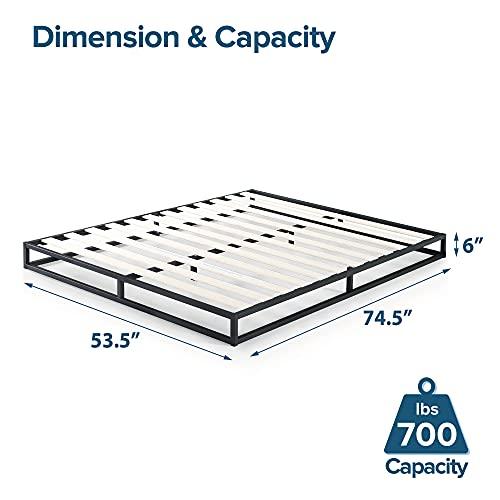 Zinus Joseph Modern Studio 6 Inch Platforma Low Profile Bed Frame / Mattress Foundation / Boxspring Optional / Wood slat support, Full