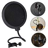 Filtros de Micrófono, Micrófono de Estudio Pantalla de Viento Protector de Sonido de Doble Capa...