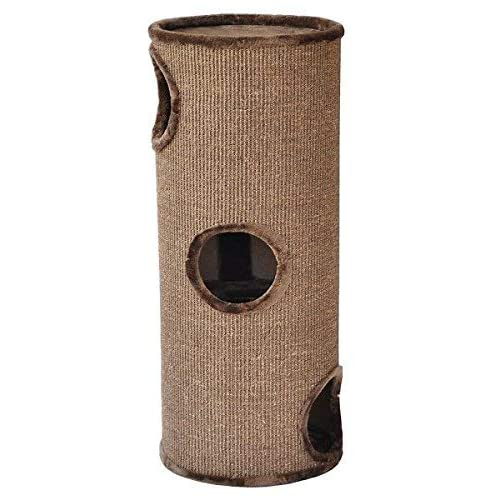 nanook Tour à griffer pour Chat Condo - Arbre à Chat cylindrique - recouvert de sisal - Taille XL: 100 cm - Couleur: Marron