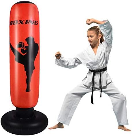 Inflatable Punching Bag For Kids and Adults Our Free Standing Punch Bag is a Great Indoor and product image