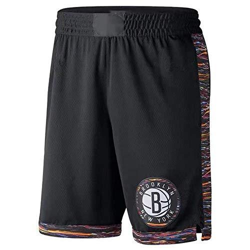 Brooklyn Nets Kyrie Irving Pantaloncini da pallacanestro da uomo con tasche Tasche lunghe da ragazzo, Pantaloncini sportivi da allenamento per fitness da donna Pantaloncini larghi (M,C)