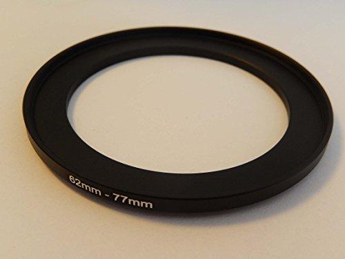 vhbw Adaptador de Filtro Step up 62mm-77mm Negro para cámaras Sony DT 18-135 mm D3,5-5,6 Sam (SAL-18135)