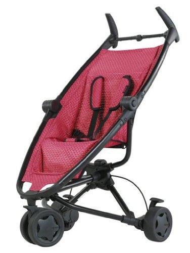 Quinny 65602930 - Zapp Twine, zwart frame en gevlochten zitinghang, inclusief zonnedak, regenhoes, reistas en adapter voor de Maxi-Cosi babyschaal, roze