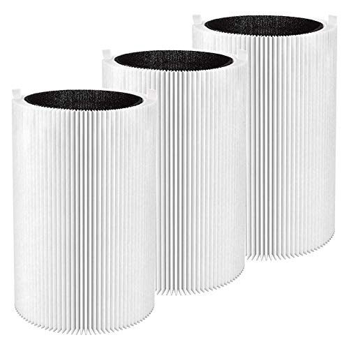 Kaxofang 3 Pack Pure 411 Replacement Filter Particle and Activated Carbon for Blueair Blue Pure 411, 411+ & Air Purifiers