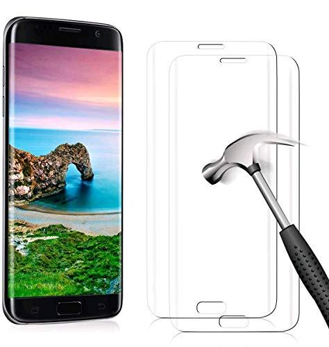 YIEASY 2 Stück Schutzfolie für Samsung Galaxy S7 Edge Panzerglas, 9H Härte 3D Full Screen Gehärtetes Glas Folie für Samsung Galaxy S7 Edge, Anti-Kratzer Ultra-klar Panzerglasfolie Displayschutzfolie