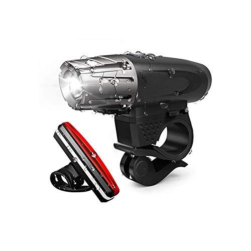 HIGHKAS Lumière vélo Rechargeable par USB Feux sécurité Avant et arrière pour vélo Phare et feu arrière à LED Super Lumineux et étanche à Tous Les vélos, Montagne, Route