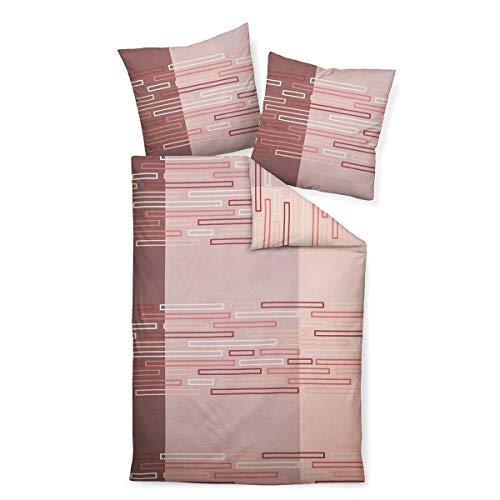 Janine Design Mako-Soft-Seersucker Bettwäsche Tango 20097 Rose Koralle Mauve 1 Bettbezug 135 x 200 cm + 1 Kissenbezug 80 x 80 cm