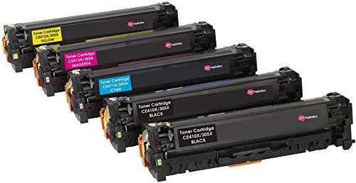 5er Set INK INSPIRATION® Premium Toner für HP Laserjet Pro 300 M351a MFP M375nw Pro 400 M451dn M451dw M451nw MFP M475dn M475dw | kompatibel zu HP CE410X 4.000 Seiten CE411A CE412A CE413A 2.600 Seiten