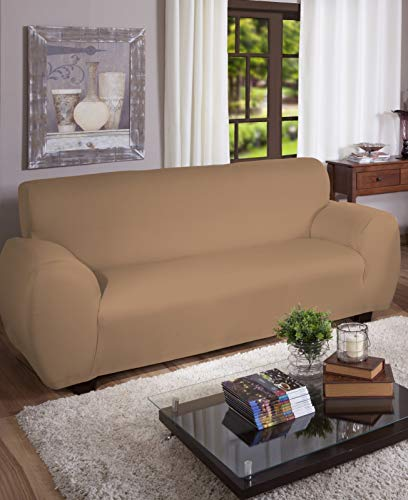 Capa Para Sofa Canelada 3 Lug, (Avela), Arte Cazza, Bege