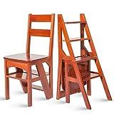 Haushalts-Multifunktionsleiterhocker Massivholz IKEA Kinderklappstuhl Dual-Use-Vierstufenleiter Aufstiegsleiter für die Küche im Freien
