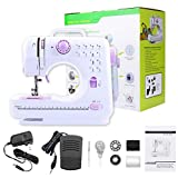 SoulLife Sewing Machine,12 Built-in Stitches, 2 Speeds Double Thread,LED Sewing Lamp,Thread Cutter and Foot Pedal,Portable Household Mini Upgrade Sewing Machine Tool for Beginners