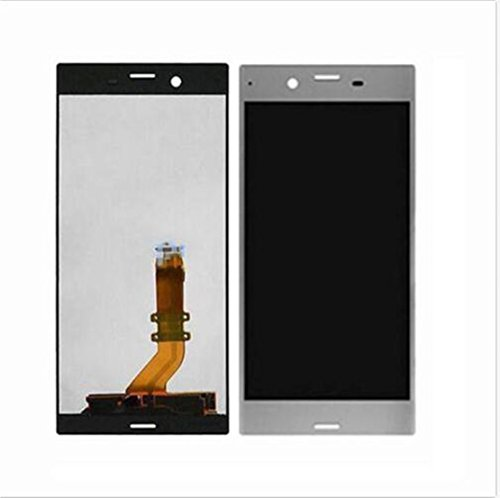 Sony Xperia E5 XZ XA1 Display im Komplettset LCD Ersatz Für Touchscreen Glas Reparatur (Sony Xperia XZ 601SO F8331 F8332, Silber)